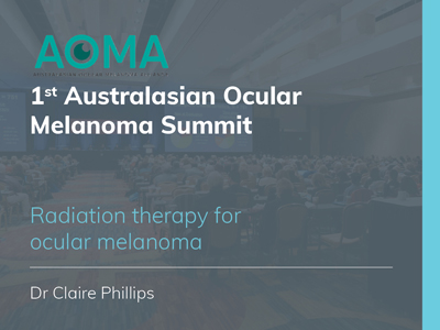 Radiation therapy for ocular melanoma | 19 min