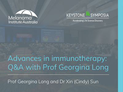 Advances in immunotherapy: Q&A with Prof Georgina Long AO | 27 min